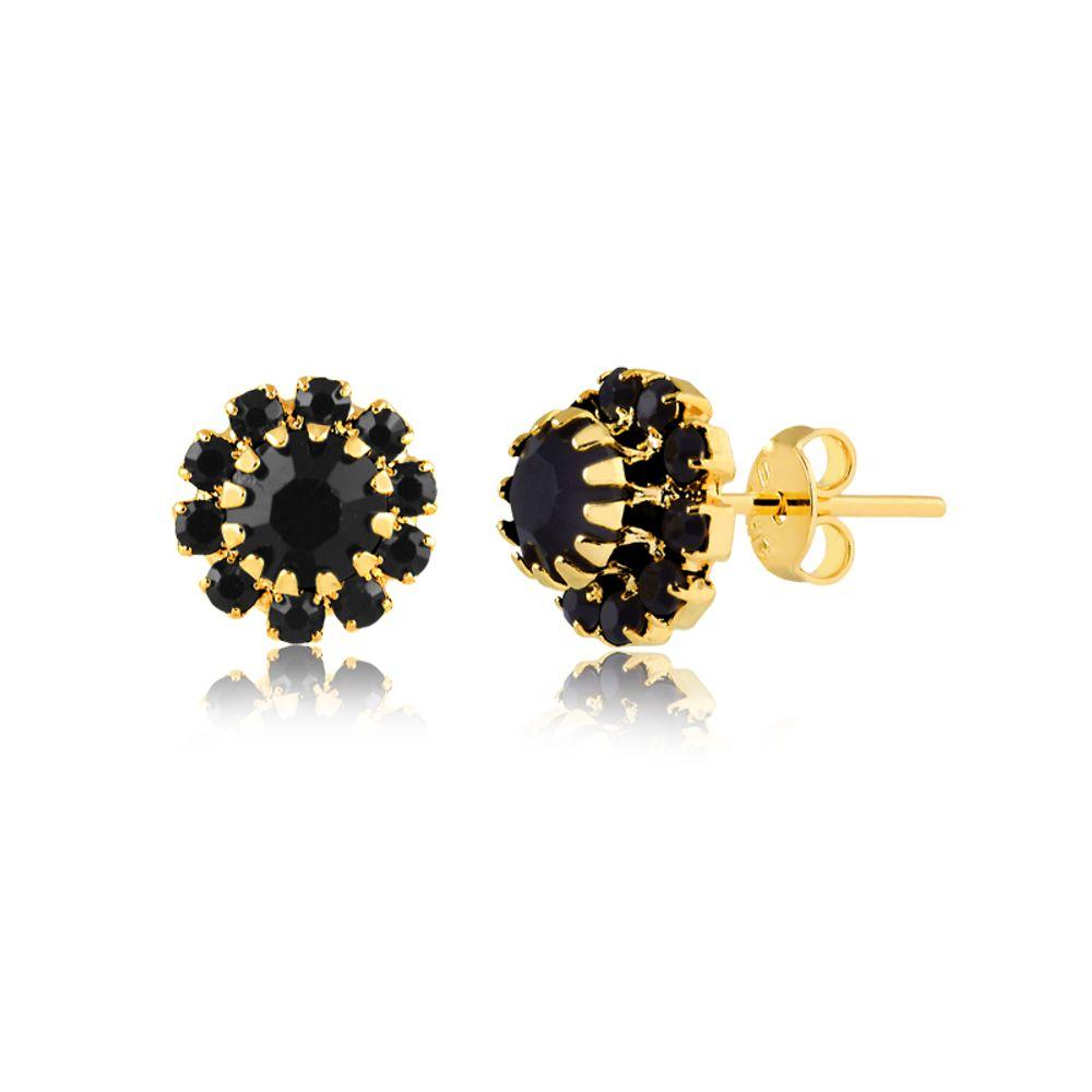 brinco-florzinha-com-pedras-pretas-banhado-a-ouro-18--k