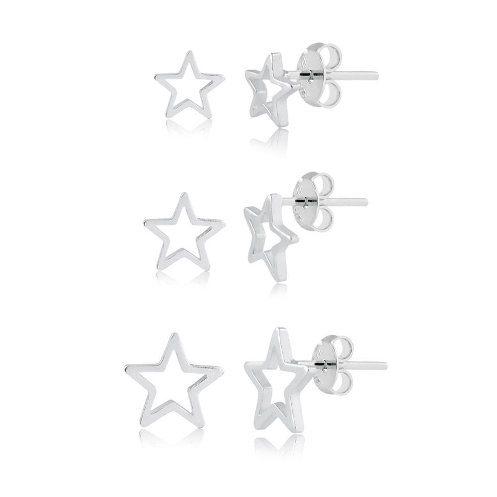 trio-de-brincos-de-estrela-em-prata-925