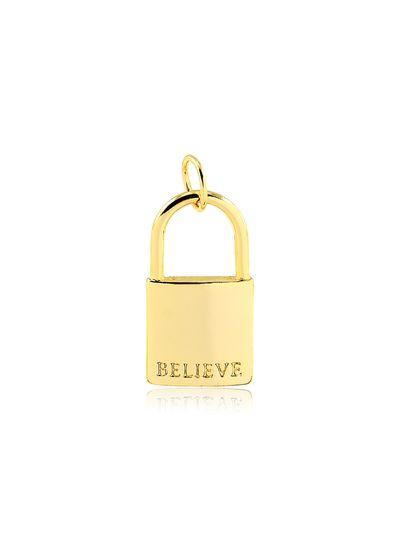 Pingente-com-design-cadeado-banhado-em-ouro-18k