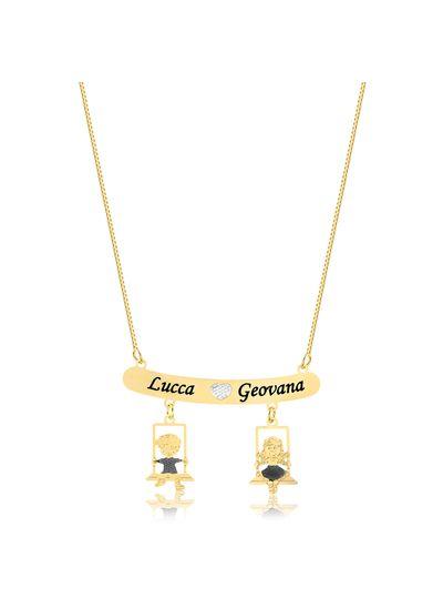 colar-personalizado-canga-e-bonequinhos-banhado-a-ouro