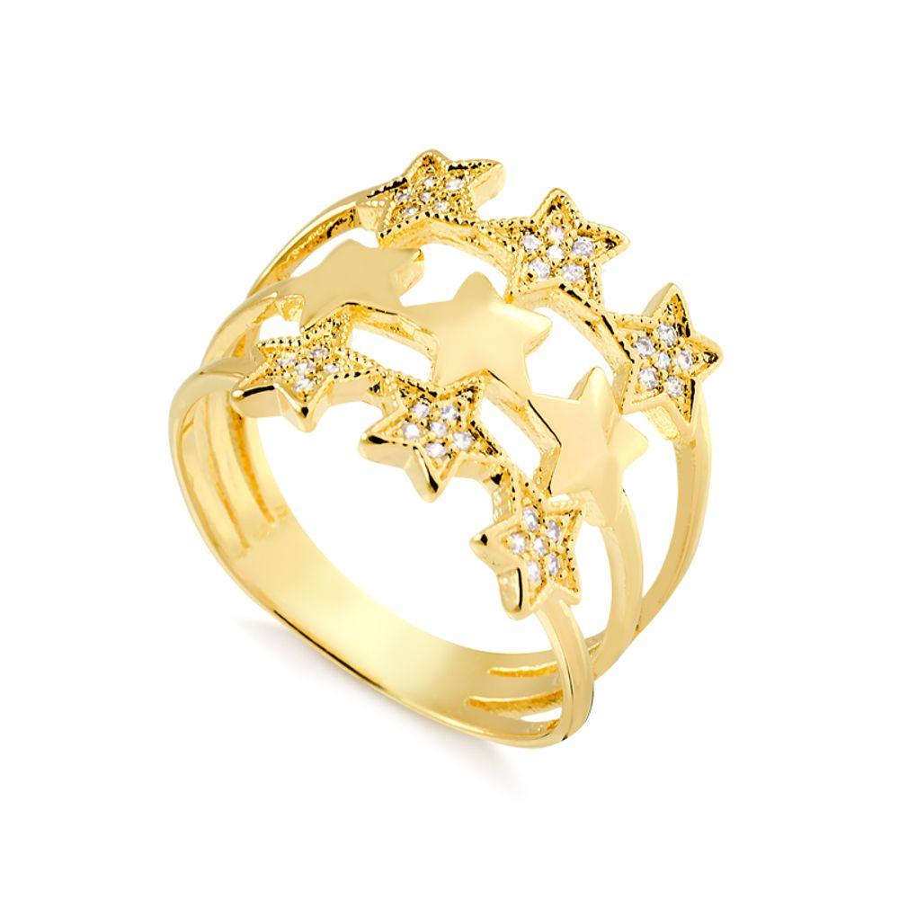 anel-trez-fileiras-lisa-cravejada-banhado-a-ouro-18-k