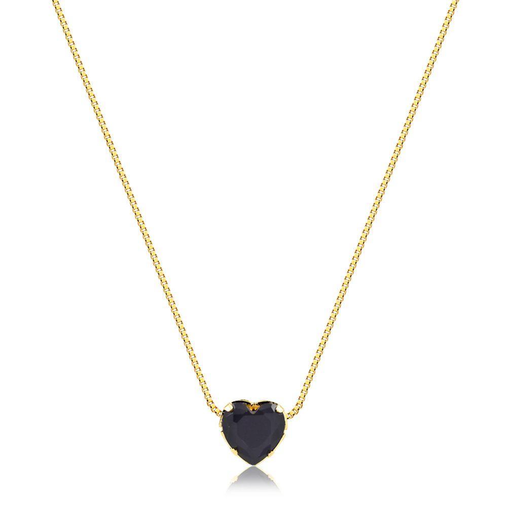 Colar-coracao-com-pedra-preta-banhado-em-ouro-18k