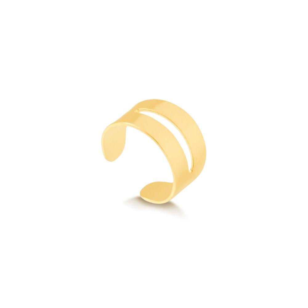 Piercing-fake-com-design-vazado-banhado-em-ouro-18k