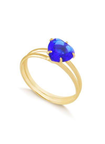Anel-com-coracao-azul-e-aro-duplo-banhado-em-ouro-18k