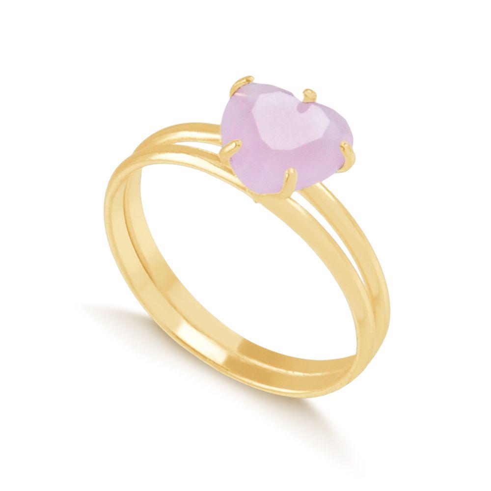 Anel-com-coracao-rosa-e-aro-duplo-banhado-em-ouro-18k