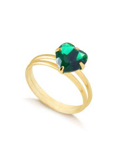 Anel-com-coracao-verde-e-aro-duplo-banhado-em-ouro-18k