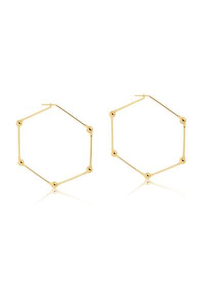 Maxi-brinco-hexagonal-com-bolinhas-banhado-em-ouro-18k