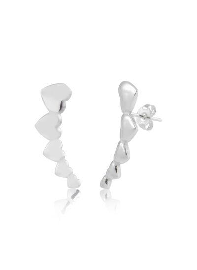 Brinco-ear-cuff-com-coracoes-em-prata-925