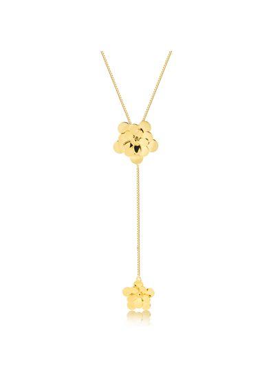 Colar-gravatinha-flor-lisa-banhada-em-ouro-18k