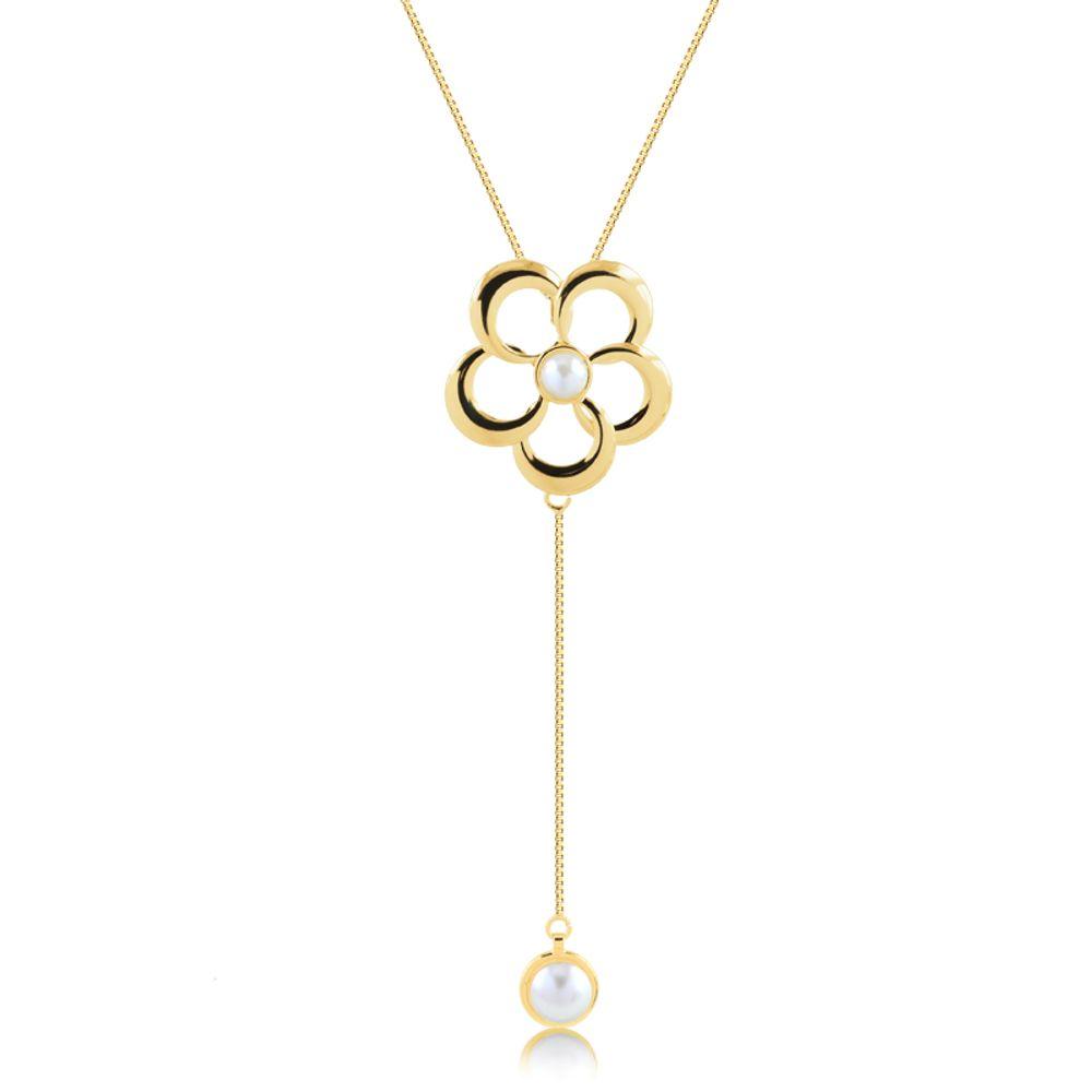 Colar-gravatinha-flor-com-perola-banhado-em-ouro-18k