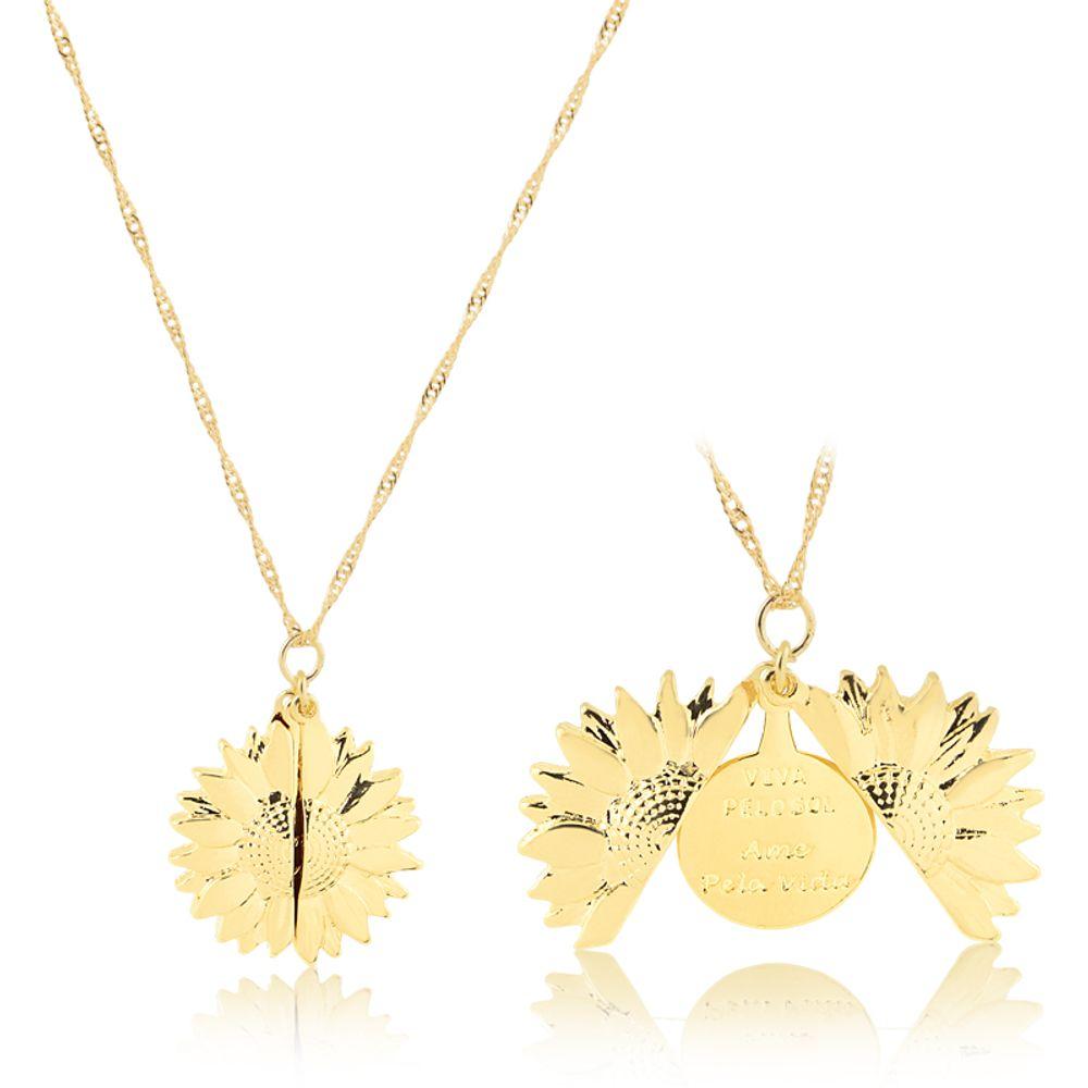 Colar-girassol-com-medalha-banhada-em-ouro-18k