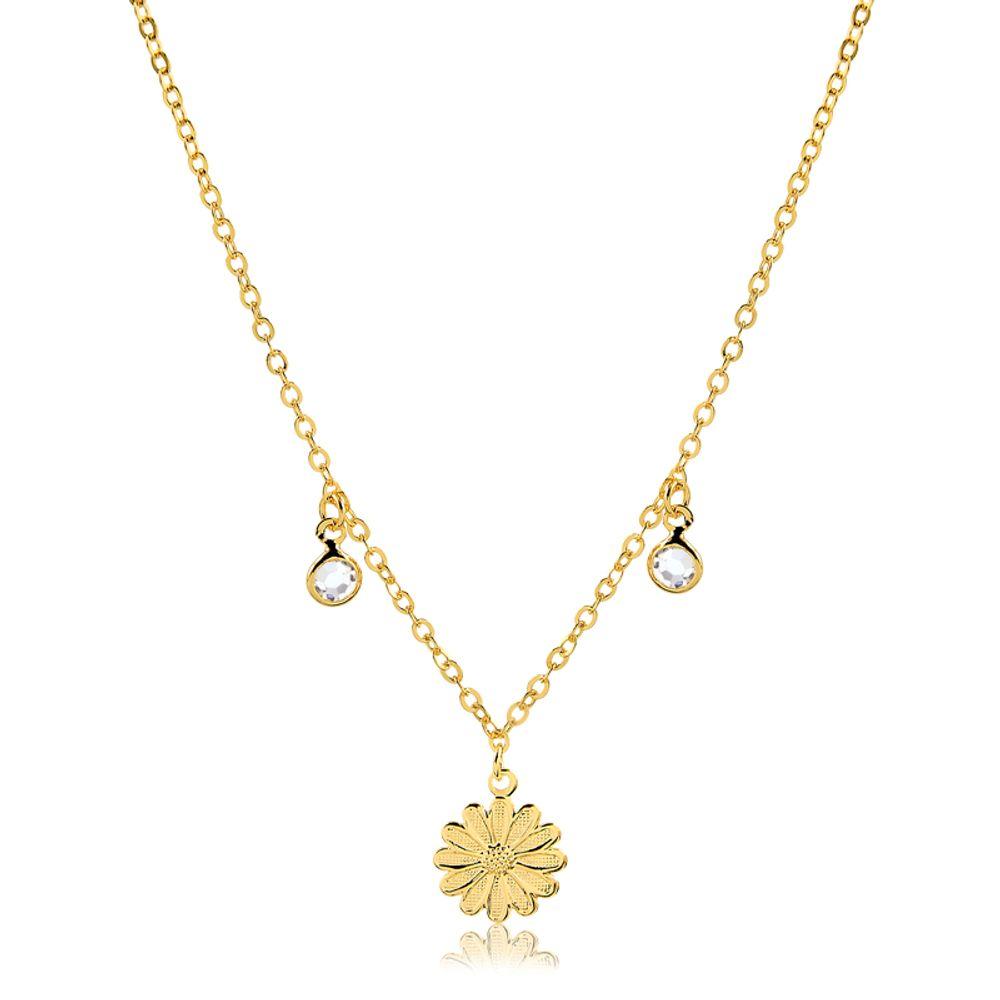 Choker-com-flor-e-ponto-de-luz-banhado-em-ouro-18k