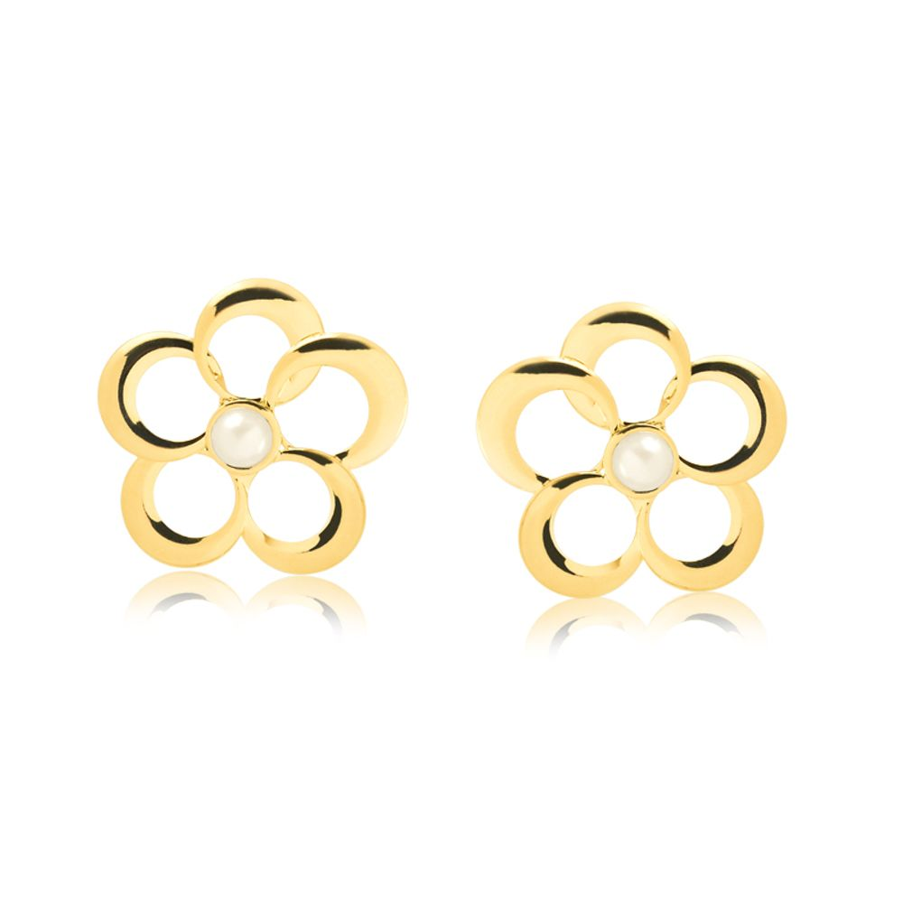 Brinco-flor-e-perola-centralizada-banhada-em-ouro-18k