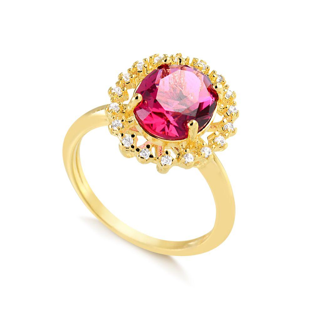 Anel-com-pedra-oval-rubi-cravejado-ao-redor-de-zirconias-cristal-banhado-em-ouro-18k