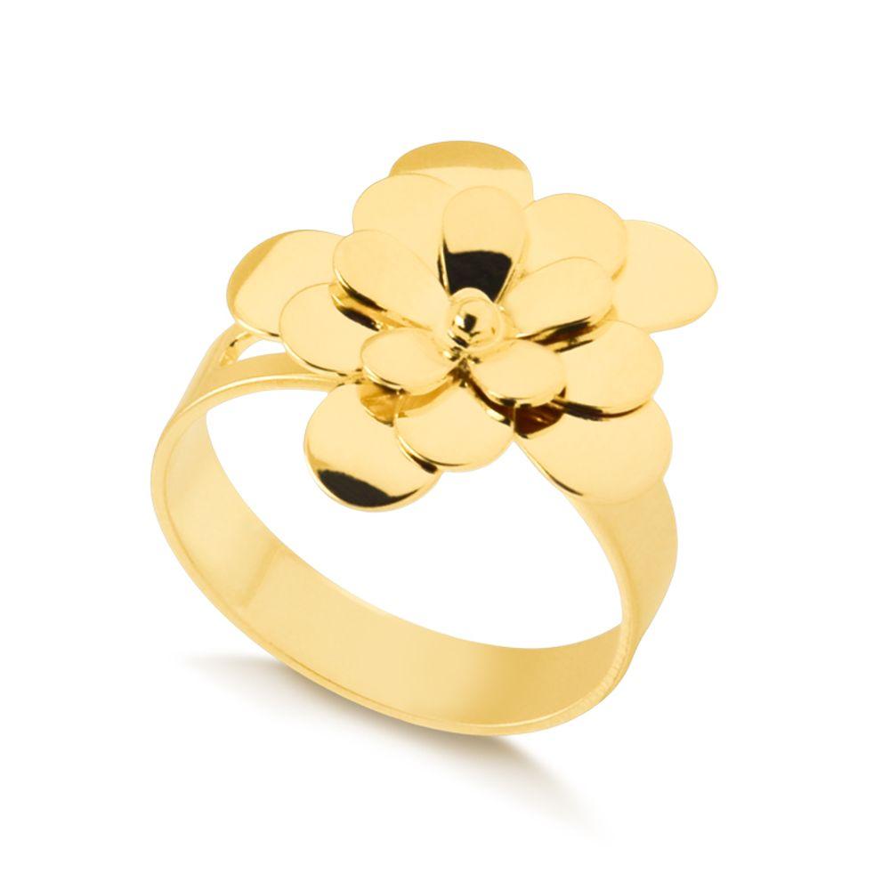 Anel-regulavel-com-flor-lisa-banhada-em-ouro-18k