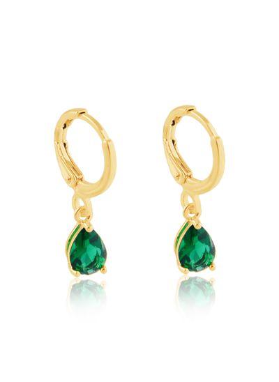 Argolinha-com-pingente-gota-verde-banhada-em-ouro