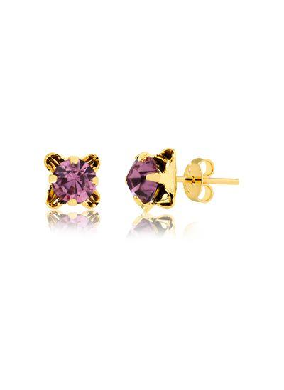 Brinco-flor-com-pedra-lilas-banhado-em-ouro-18k