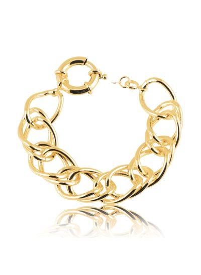 Pulseira-com-design-de-elos-duplo-banhada-em-ouro