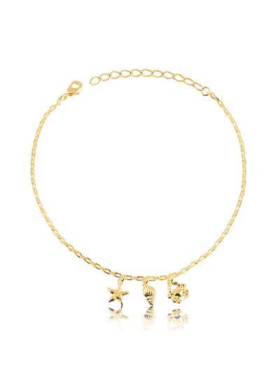 Tornozeleira-com-pingentes-estrela-buzio-e-carangueijo-banhada-em-ouro-18k