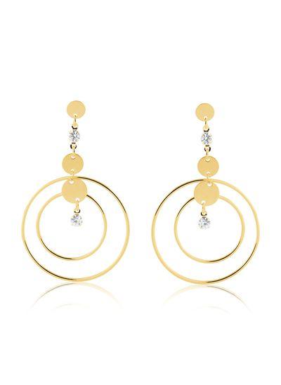 Maxi-brinco-com-circulos-pequenos-e-grande-com-zirconias-cristais-banhado-em-ouro-18k