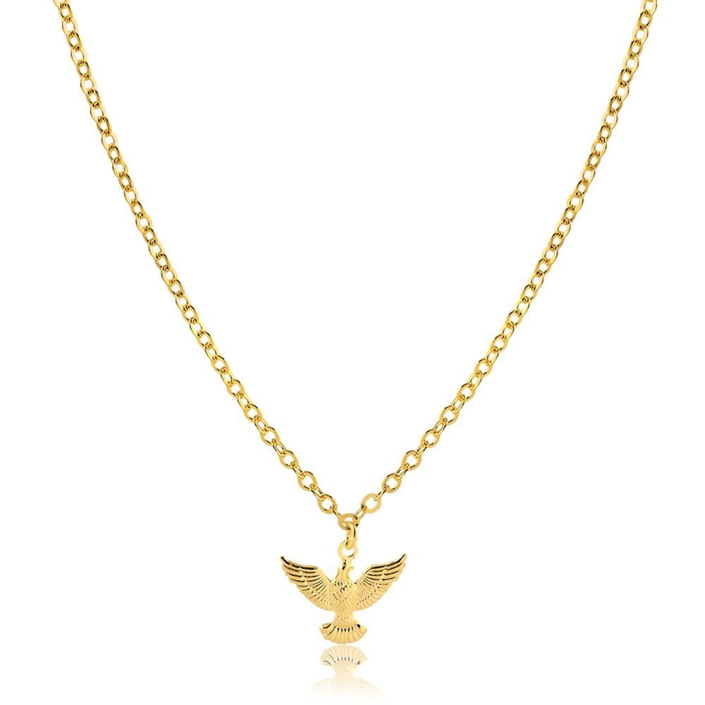 Colar-com-pingente-pequeno-pomba-Espirito-Santo-banhado-em-ouro-18k