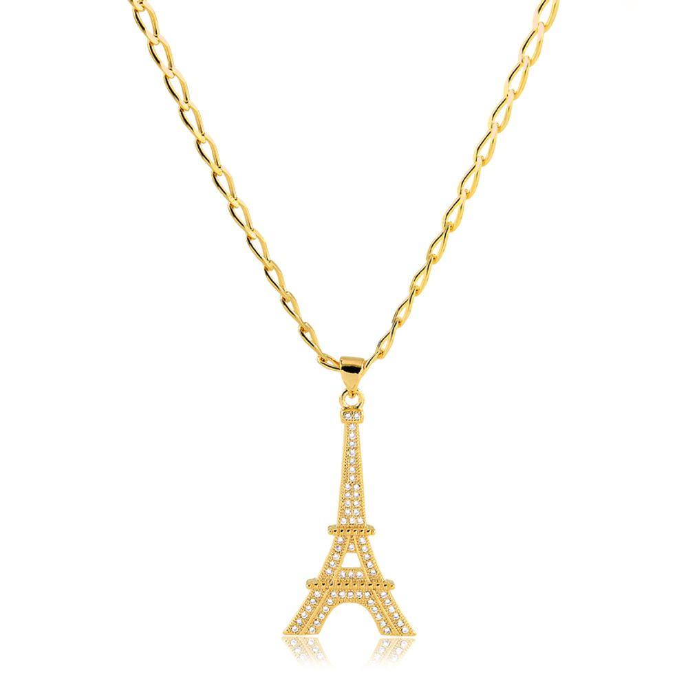 Colar-longo-com-pingente-Torre-Eiffel-cravejado-com-zirconia-banhado-em-ouro-18k