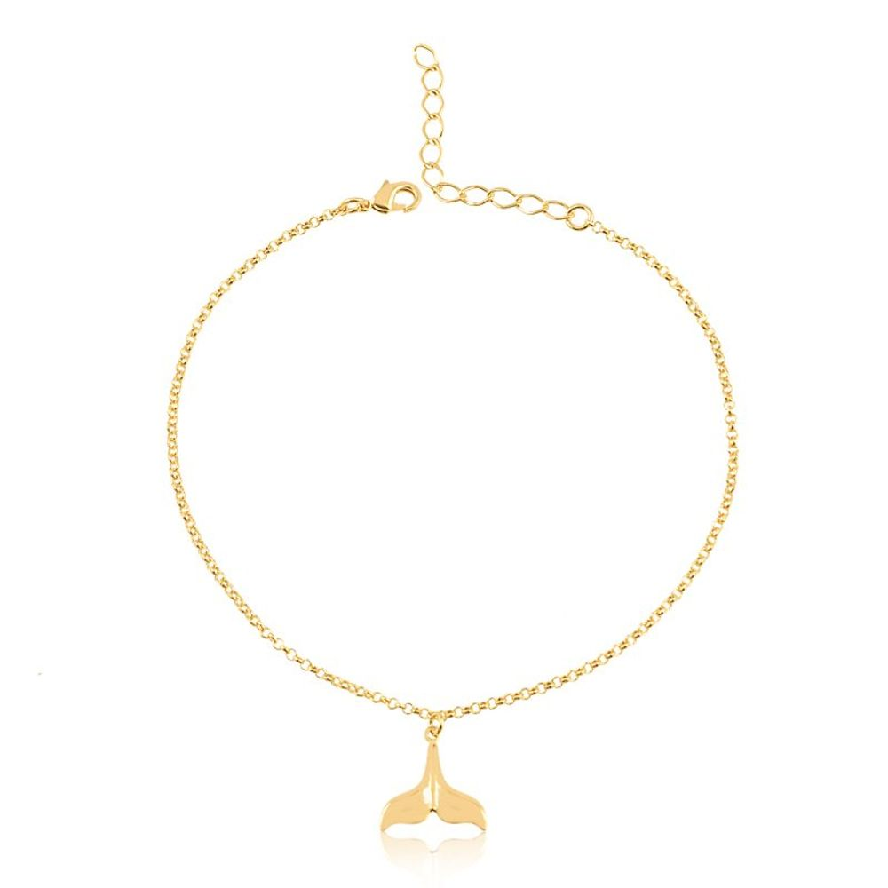 Tornozeleira-com-pingente-rabo-de-sereia-banhada-em-ouro-18k
