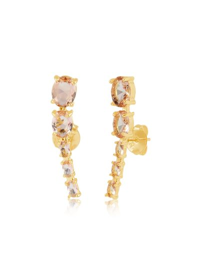 Brinco-ear-cuff-com-pedras-salmao-banhado-em-ouro
