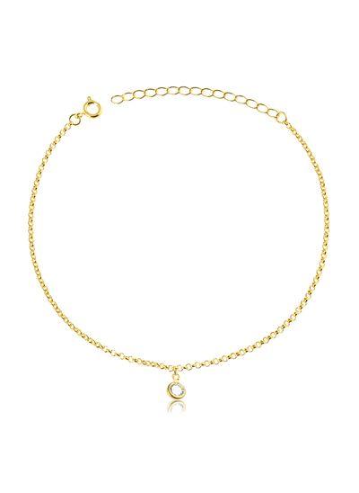 Tornozeleira-com-ponto-de-luz-banhado-em-ouro-18k