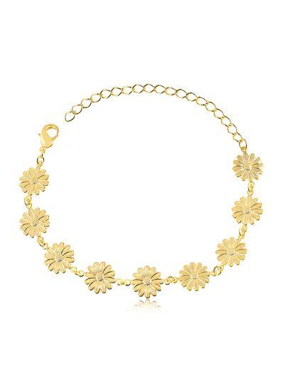 Pulseira-com-flores-banhada-em-ouro-18k