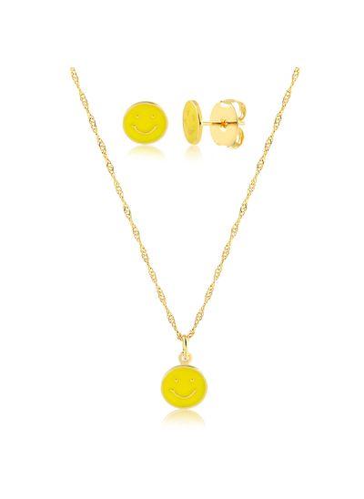 Conjunto-colar-com-brinco-emoji-smile-banhado-a-ouro-18k
