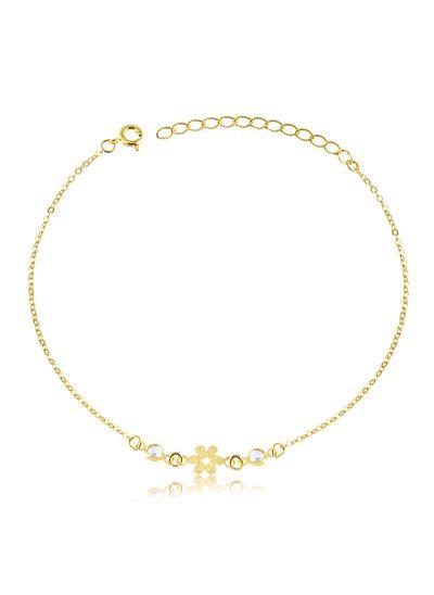 Tornozeleira-florzinha-com-ponto-de-luz-duplo-banhado-em-ouro-18k