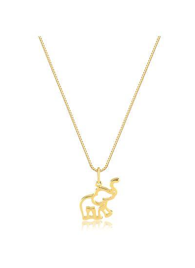 Colar-com-pingente-elefante-vazado-banhado-em-ouro