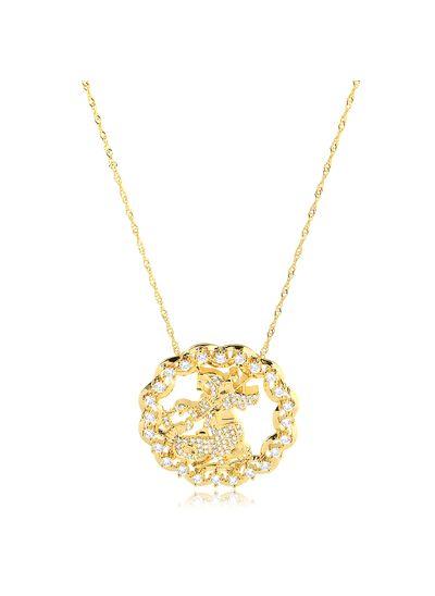 Colar-com-pingente-redondo-e-vazado-Sao-Jorge-cravejado-com-zirconia-cristal-banhado-em-ouro-18k