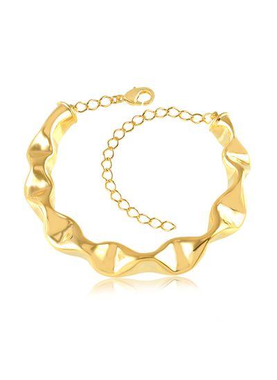 Bracelete-com-design-ondulado-banhado-em-ouro-18k