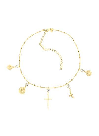 Colar-com-medalhas-de-Sao-Bento-ponto-de-luz-e-cruz-banhado-em-ouro-18k