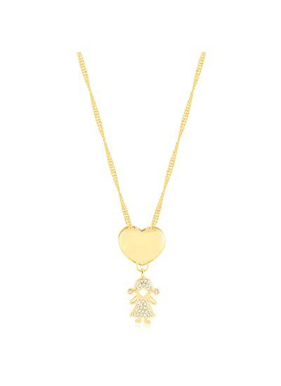 Colar-coracao-liso-e-pingente-menina-cravejada-de-zirconias-banhado-em-ouro-18k