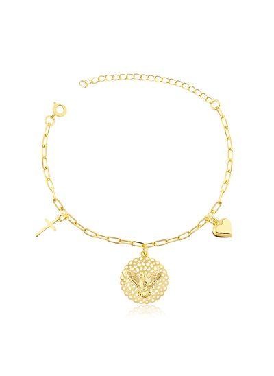 Pulseira-com-pingentes-pomba-coracao-e-cruz-banhado-em-ouro-18k