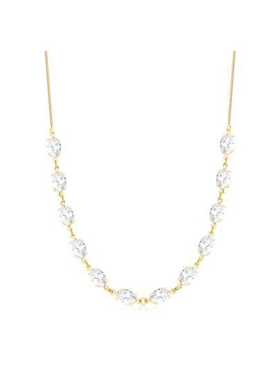 Choker-com-zirconias-oval-cristal-banhada-em-ouro-18k